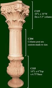 Decorative Wood Post Decorative Columns Decorative Custom Hand Carved Wood Columns