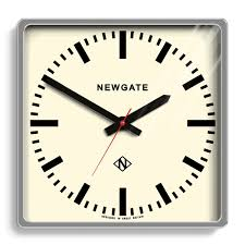 Wall Watch by Large Square Chrome Industrial Wall Clock Newgate Clocks Underpass