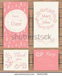 save the date birthday cards floral vector card templates stock vector 292944350