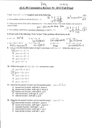 Inverse Functions Worksheet Answers Algebra Ii 2013 2014