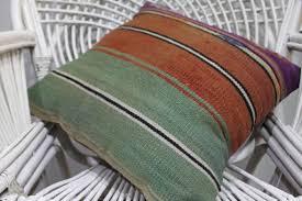 Green And Orange Decorative Pillow Bohemian Vintage Pillowcases