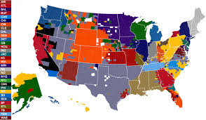 Picture Of The Map Of The United States by The United States Of Football Visual Ly