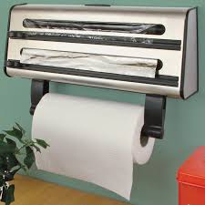 kitchen triple roll dispenser cling film tin foil towel holder