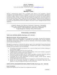 Logistic Coordinator Cv Resume Special Events Coordinator Resume