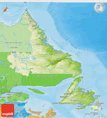 Newfoundland Canada Map by Physical 3d Map Of Newfoundland And Labrador Political Shades Outside