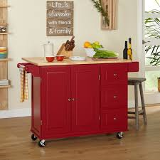wood kitchen island cart kitchen cabinets evergreen basic style wood top kitchen island