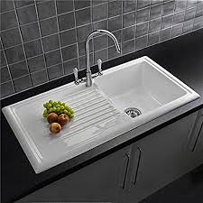 kitchen sink sale uk reginox rl304cw 1 0 bowl white ceramic reversible kitchen sink