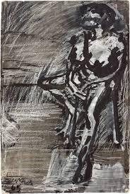 seated figure i by frank auerbach on artnet