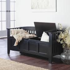 storage bench seat with baskets entryway furniture ideas