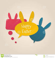 free easter speeches happy easter speech bubbles with bunny ears stock vector
