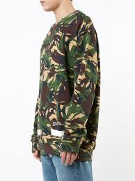 off white auction house camouflage print sweatshirt farfetch