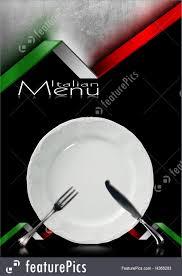 Flags Restaurant Menu Illustration Of Italian Restaurant Menu Design