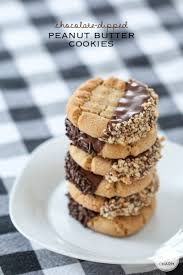 chocolate dipped peanut butter cookies inspired by charm