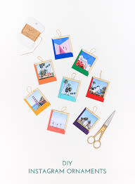 diy color blocked instagram ornaments the crafted