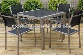 Plastic Wood Chairs New Metal Plastic Wood Furniture Dining Set Hd Designs Brushed
