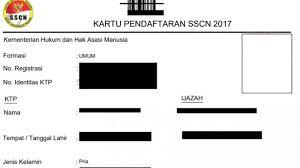 format absensi ujian berikut urutan lengkap cetak kartu ujian hingga registrasi ulang