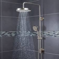 bathroom rain shower head moen oil rubbed bronze height kohler