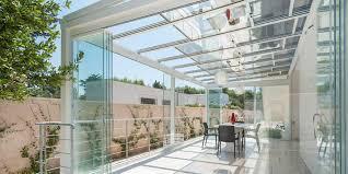vetrata veranda veranda in alluminio con tetto apribile copertura in vetro