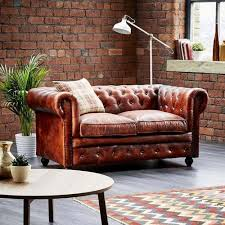 Chestnut Leather Sofa Leather Chesterfield 2 Seater Sofa Antique Chestnut Chamde Ka
