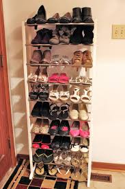 superb tall shoe rack on doormat for entry wall decor ideas of