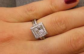 princess cut halo engagement ring halo engagement rings pricescope