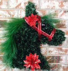 horse christmas horse head wreath horse head wreath