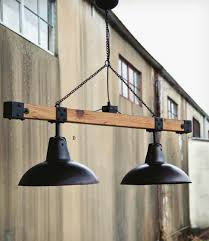 industrial style warehouse light beam dining table lighting