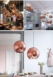 Farben F Esszimmer Nordic Globe Glas Kupfer Farbe Pendelleuchte Esszimmer Wohnzimmer