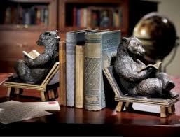 Unique Book Ends Bear Bookends Set They Look So Comfortable Sitting There Reading