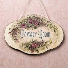 powder room wall plaque