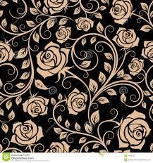 Rose Flower Design Seamless Pattern With Rose Buds Royalty Free Stock Photos Image