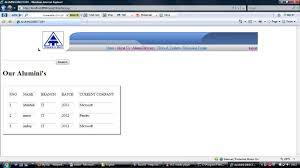 alumni database software alumini database java project projectsgeek