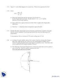 pole zero diagram and plots principles of automation control quiz