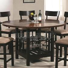Bar Height Dining Room Table Sets Bar Height Table Black Finish Top Counter Height 3