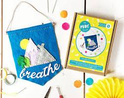 Diy Sewing Projects Home Decor Craft Kit Diy Craft Kit Cactus Felt Cactus Beginners Kit