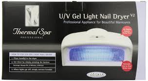 amazon com thermal spa uv auto gel light nail dryer uv nail