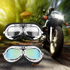 colorful lenses classic scooter motocross vintage motorcycle carting goggles glasses mirror pilot biker