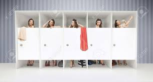 Young Room by Five Young Girls In Changing Rooms Stock Photo Picture And