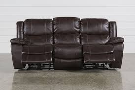 Real Leather Recliner Sofas by Sampson Power Reclining Sofa Living Spaces