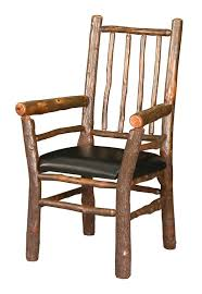 Hickory Dining Room Chairs by Log Cabin Rustic Lodge Spindle Chair