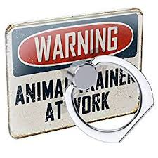 vintage animal ring holder images Cell phone ring holder warning animal trainer at work jpg