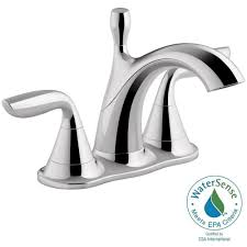 Kohler Faucets Bathroom Sink by Kohler Williamette 4 In Centerset 2 Handle 1 2 Gpm Bathroom