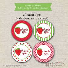 strawberry thank you etsy strawberry shortcake inspired favor tags stickers thank you gift instant download