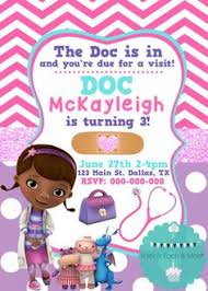 printable party invitation doc design birthday doctor girly