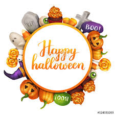 happy halloween frame wreath witch u0027s hat headstone lollipop