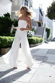 white jumpsuit wedding white strapless jumpsuit for our anniversary memorandum nyc