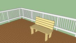 deck bench plans free howtospecialist how to build step by
