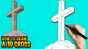 how to draw a 3d cross easy by drawing lessons for