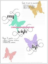 my wish list free my wish list bullet journal printable