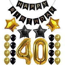 40th birthday decorations 40th birthday decorations balloons banner happy